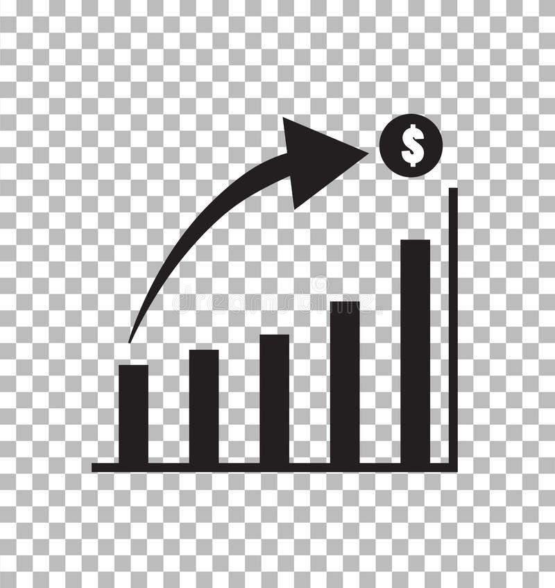 Rappresenti graficamente l'icona nello stile piano d'avanguardia isolata su trasparente illustrazione di stock
