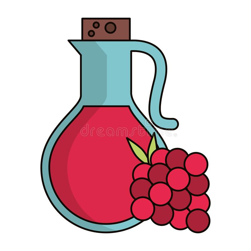 Rapsberry汁液象 库存例证