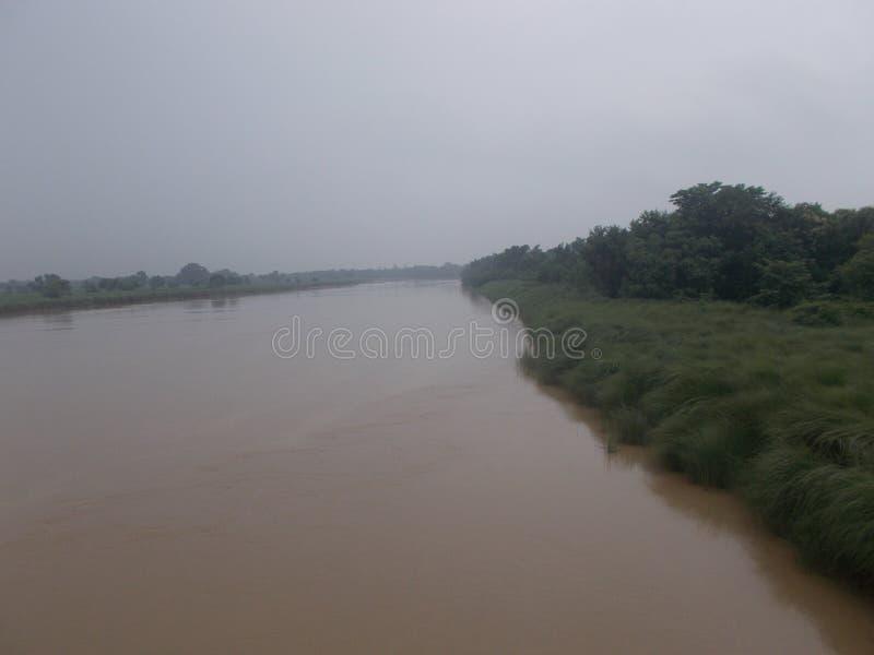 Rapti河 库存照片