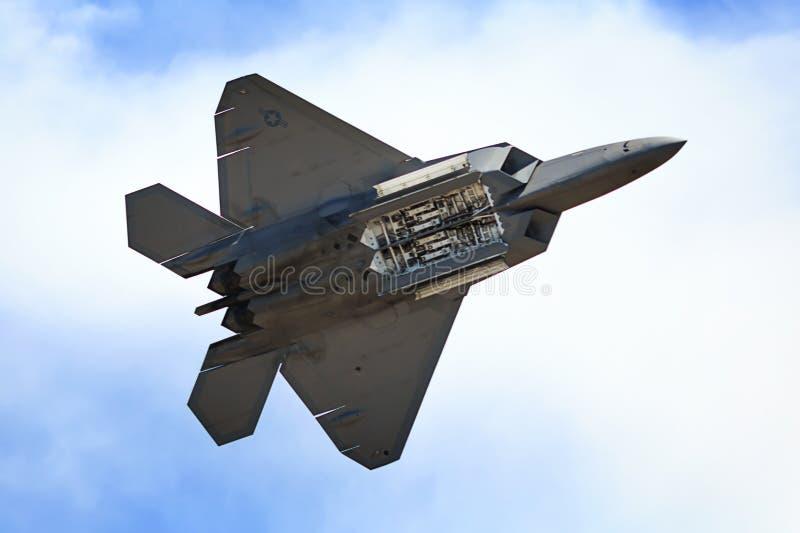 Raptor avec des portes de bombe s'ouvrent photo libre de droits