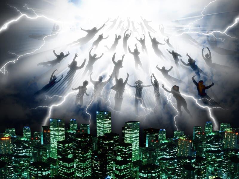 The Rapture vector illustration