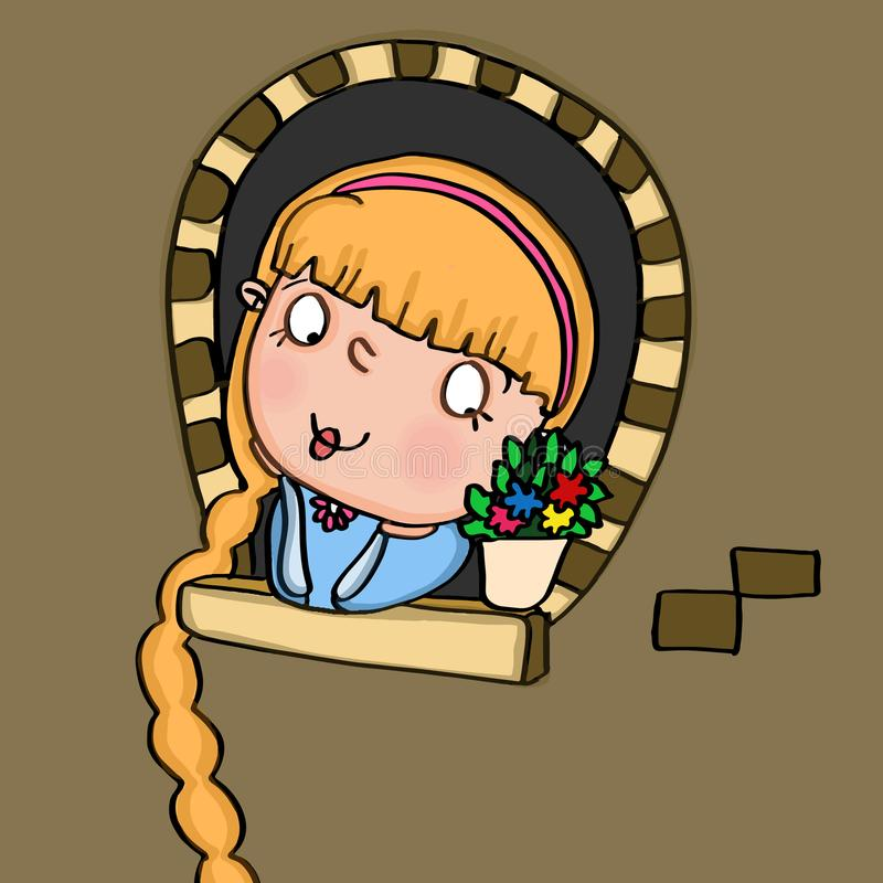 rapunzel libre illustration