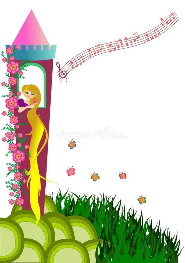 rapunzel vector illustratie