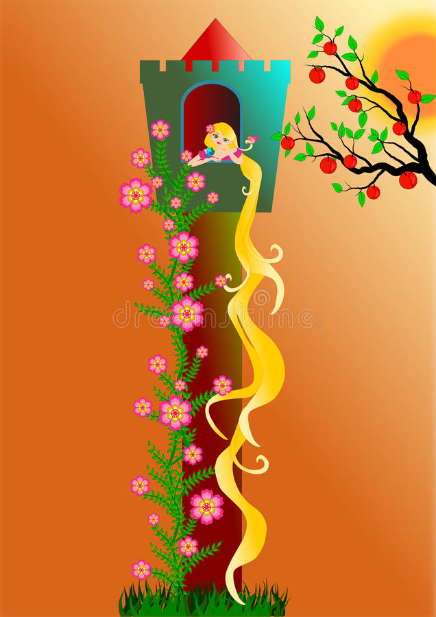 rapunzel royalty-vrije illustratie