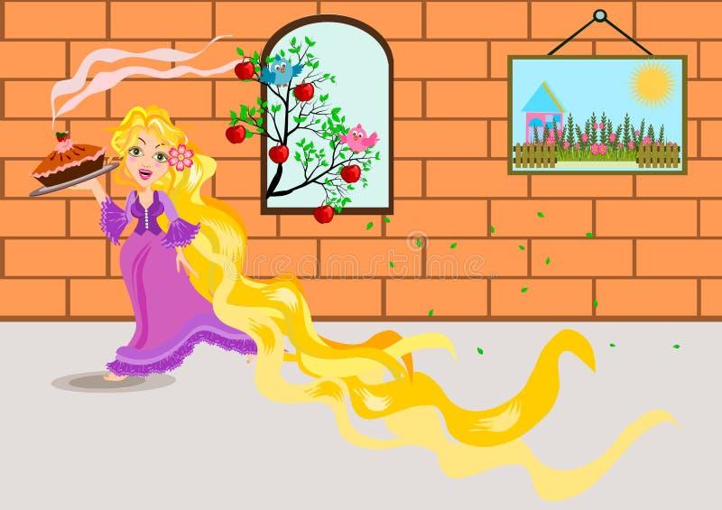 rapunzel stock illustratie
