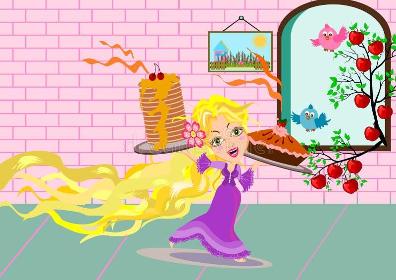 rapunzel ilustração do vetor