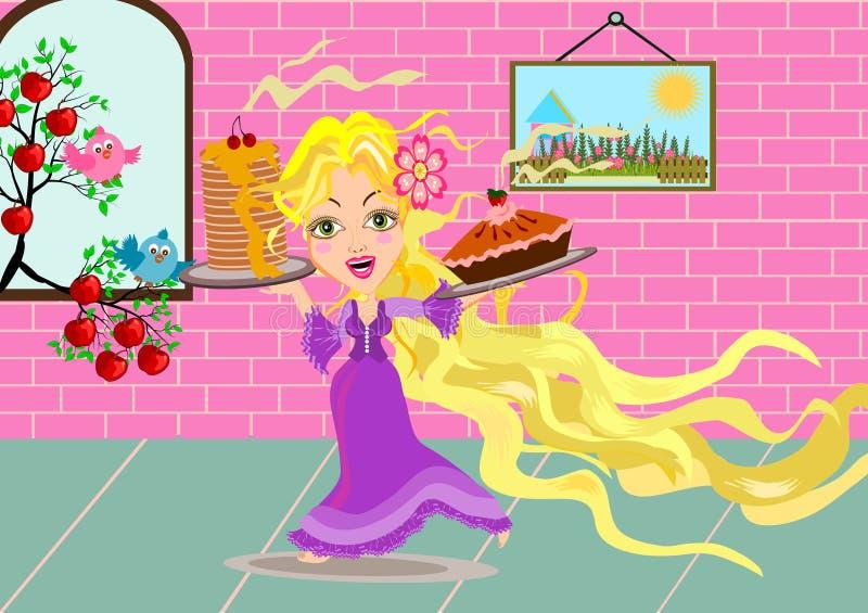 rapunzel ilustração royalty free