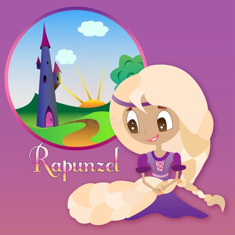 rapunzel stock de ilustración