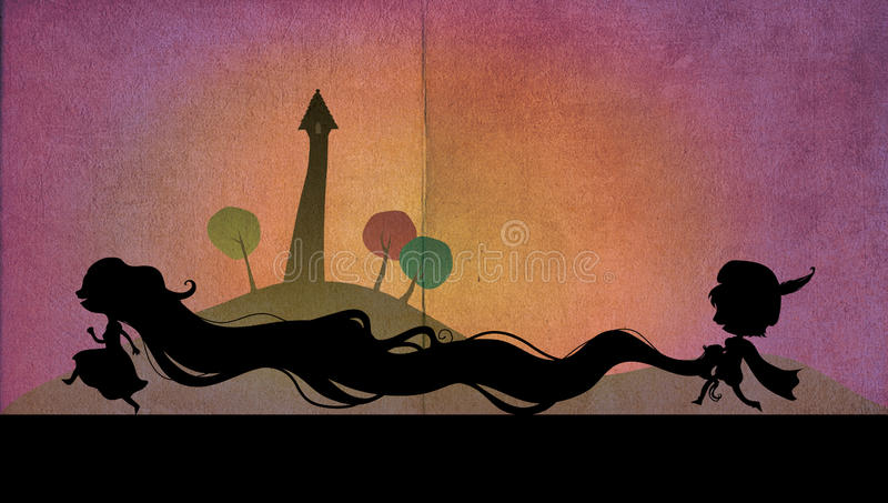 Download Rapunzel And Her Prince Royalty Free Stock Photography - Image: 27403997