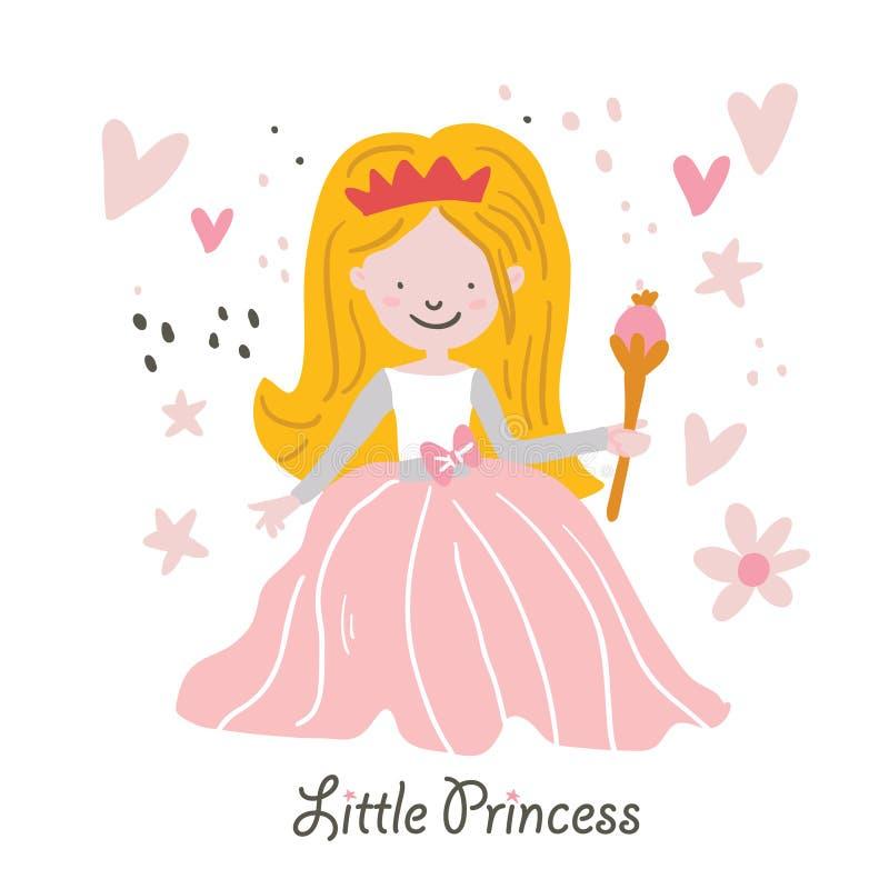 Rapunzel hermoso de la princesa del pelo rubio del vector libre illustration