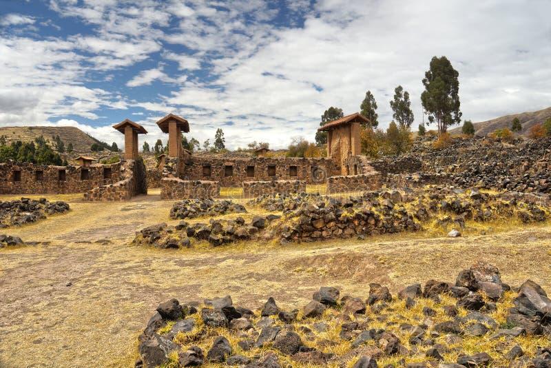Raqchi fördärvar, Cuzco, Peru arkivfoton