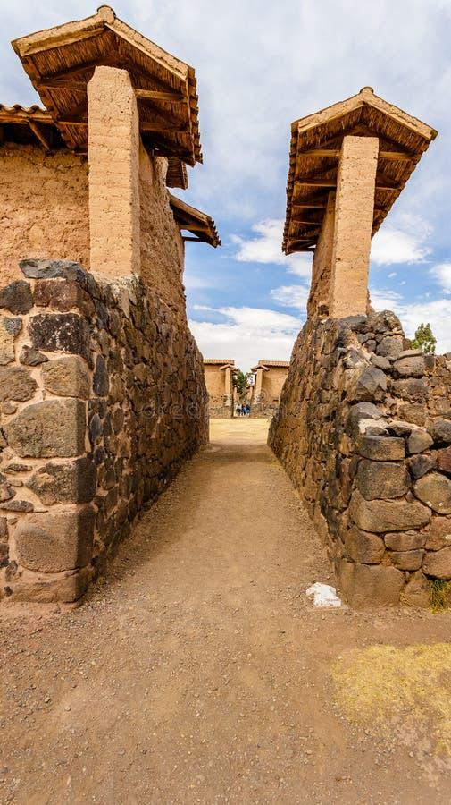 Raqchi Incacivilisation, Peru royaltyfria foton