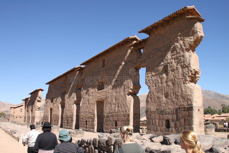 Raqchi, Peru imagens de stock royalty free