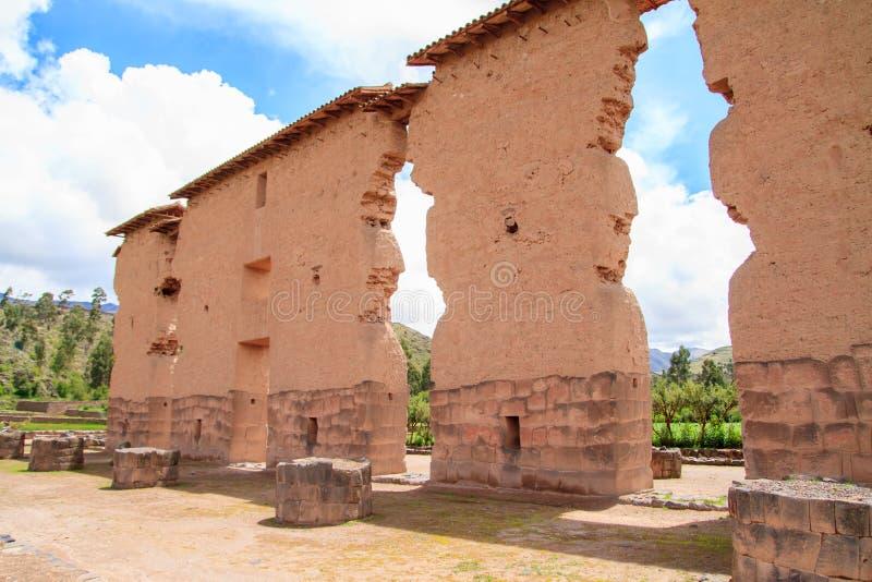 Raqchi Peru royaltyfria foton