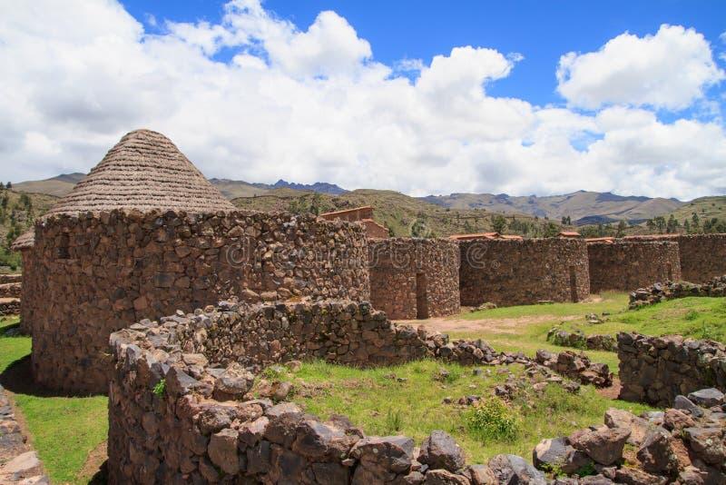 Raqchi Peru arkivbilder