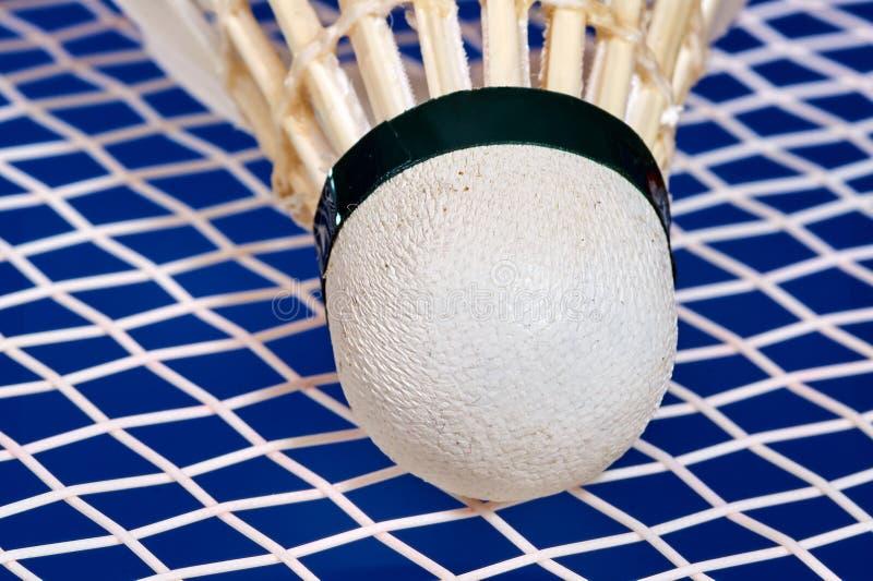 Raquete de Badminton e shuttlecocks foto de stock royalty free