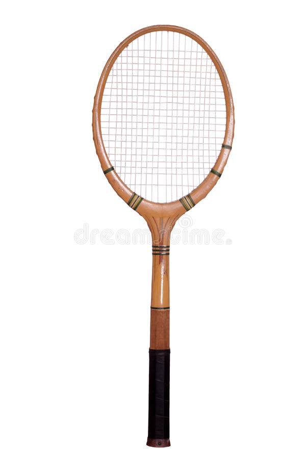 Raquete de tênis velha fotografia de stock royalty free