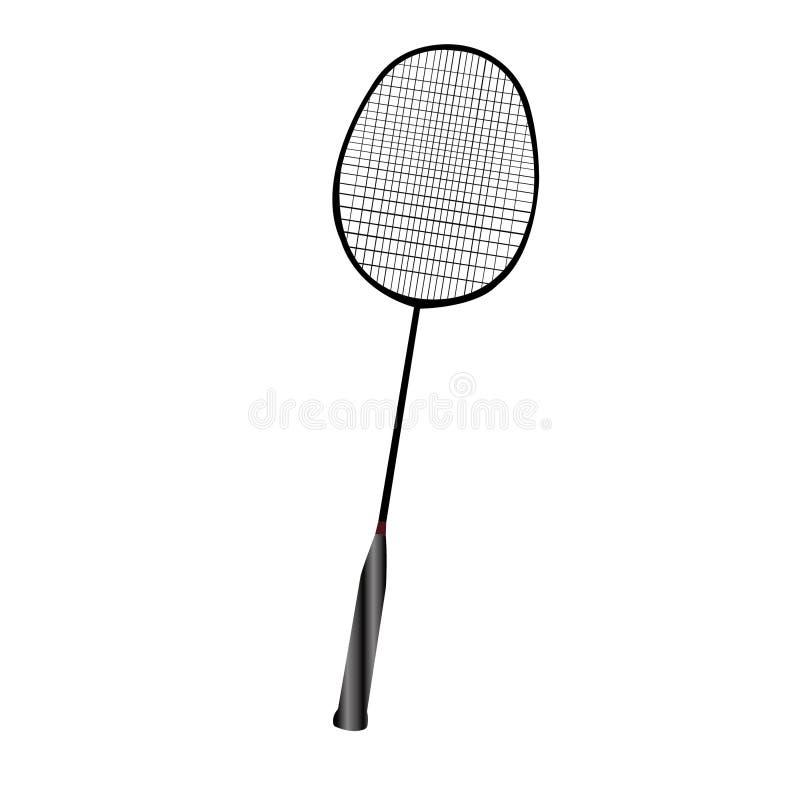 Raquete do badminton e de tênis para jogar o jogo ativo ilustração do vetor