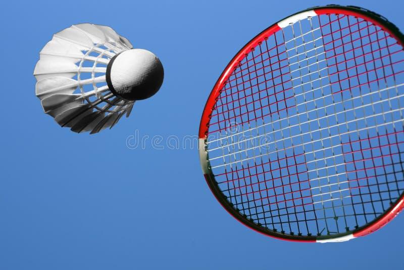 Raquete e bola de badminton fotos de stock royalty free