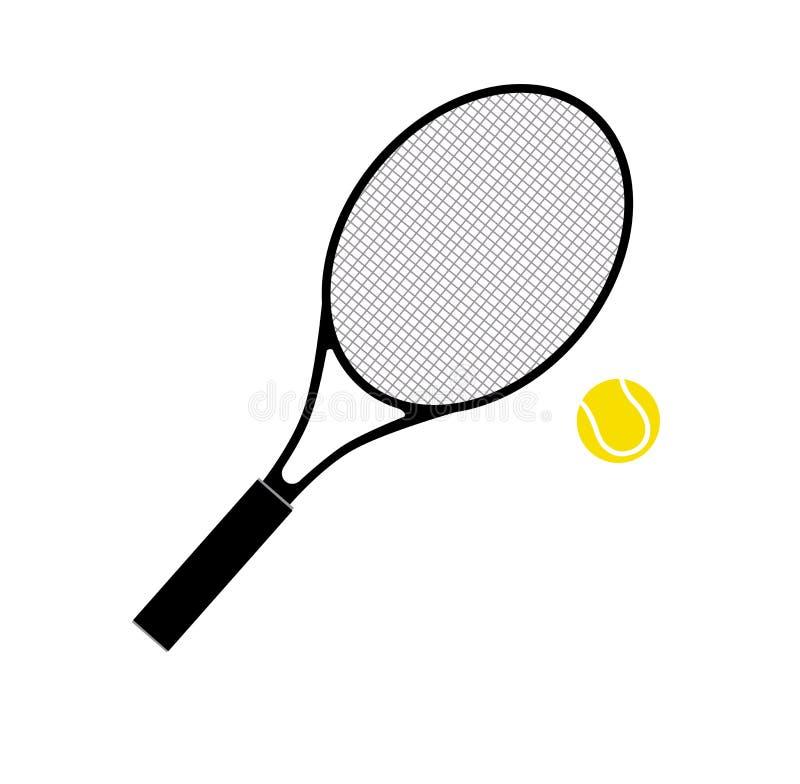 Raquete e esfera de tênis ilustração royalty free