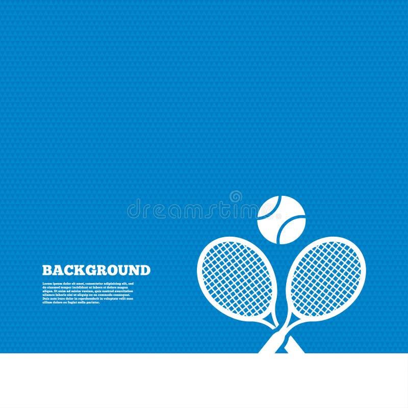 Raquetes de tênis com ícone do sinal da bola Símbolo do esporte ilustração stock