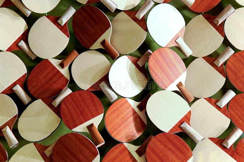 Raquetes de tênis de mesa imagem de stock royalty free