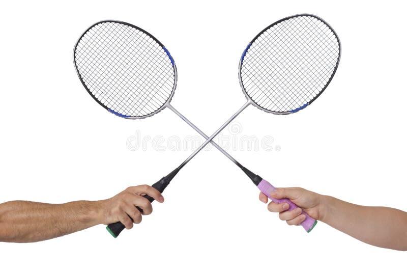 Raquette de badminton photos stock
