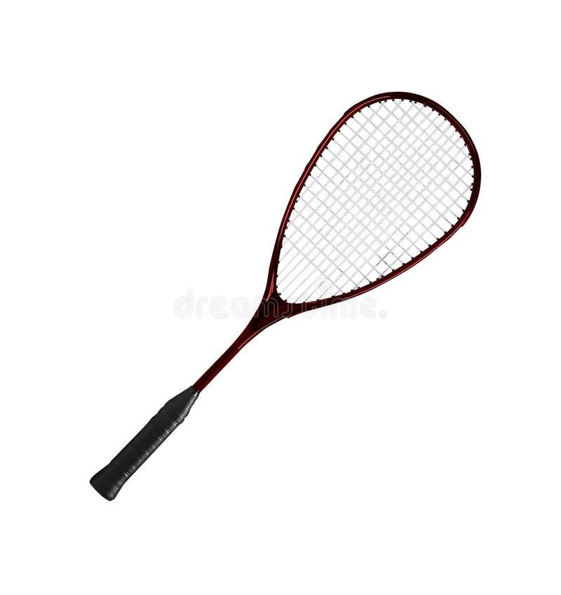 Raquette de badminton sur un fond blanc images stock