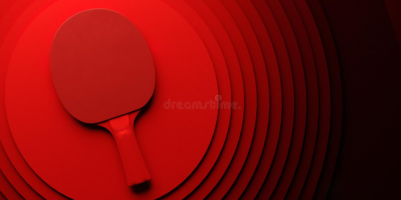 Raquette de ping-pong ou de ping-pong conception d'affiche de tournoi sur l'illustration abstraite du backgroung 3d de cercles de photo libre de droits