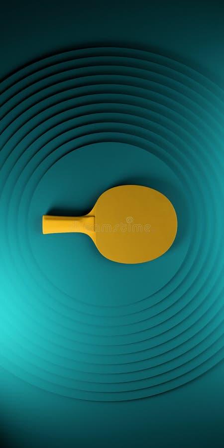 Raquette de ping-pong ou de ping-pong conception d'affiche de tournoi sur l'illustration abstraite du backgroung 3d de cercles de illustration de vecteur