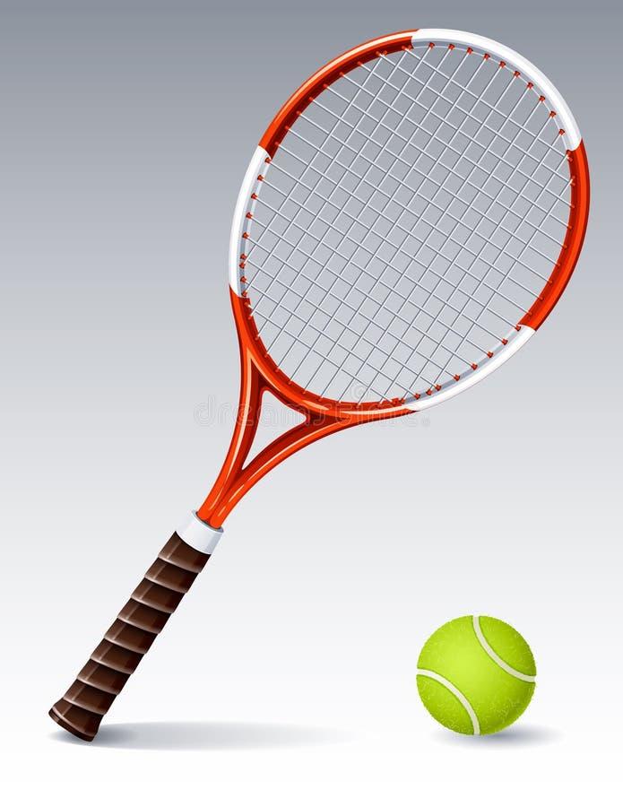 Raquette de tennis illustration de vecteur