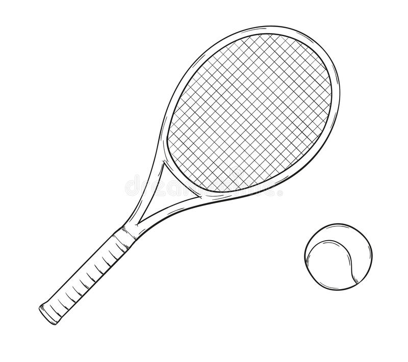 Raquette de tennis illustration de vecteur