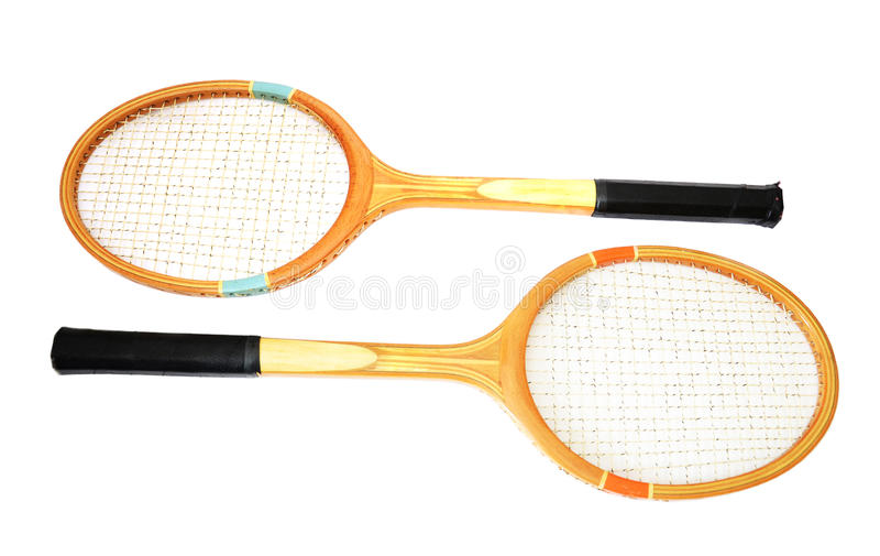 Raquette de tennis, d'isolement sur le fond blanc photographie stock