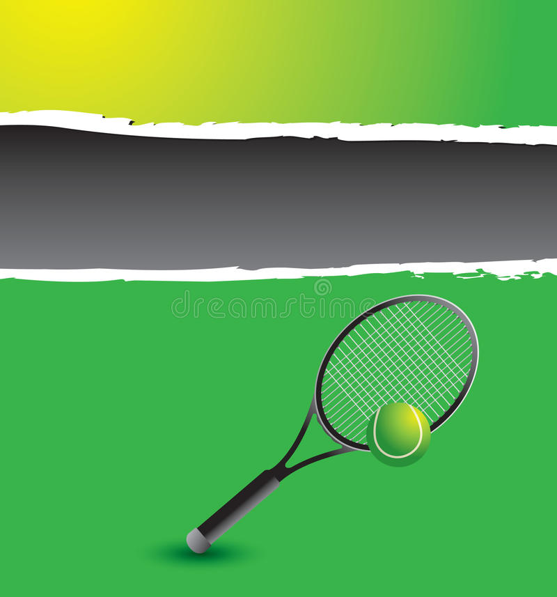 Raquette de tennis et dessin de bille illustration de - Raquette dessin ...