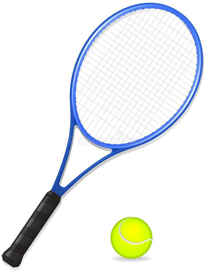 Raquette et bille de tennis illustration de vecteur