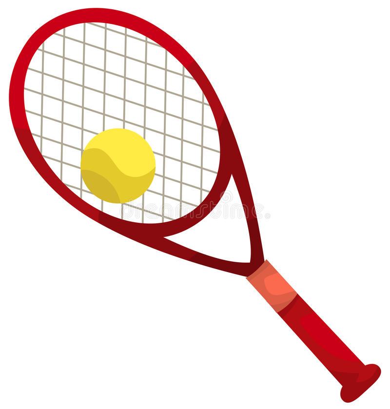 Raquette et bille de tennis illustration stock