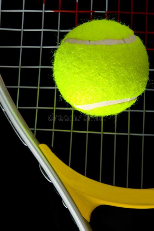 Raquette et bille de tennis photo libre de droits