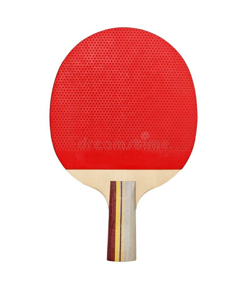 Raquette pour jouer au ping-pong sur un fond blanc photos libres de droits