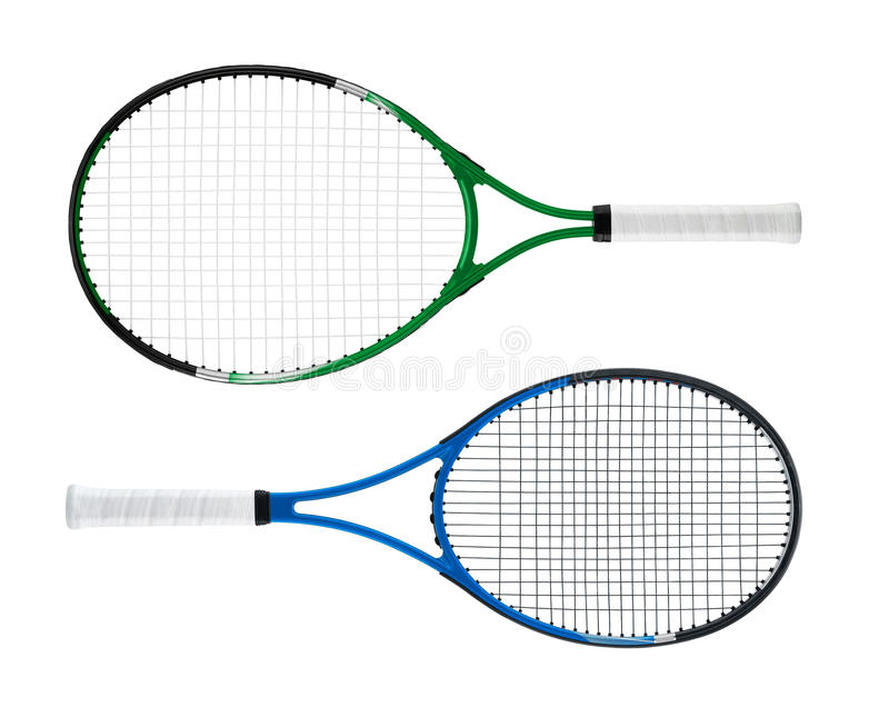 Raquettes de tennis image stock
