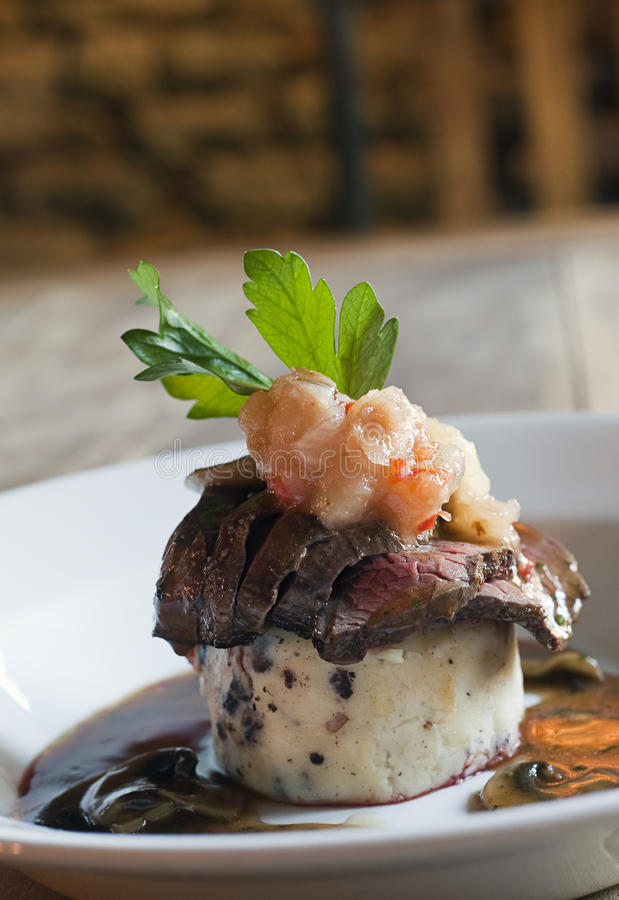 Download Rare beef and mash stock photo. Image of rare, dinner - 16611662