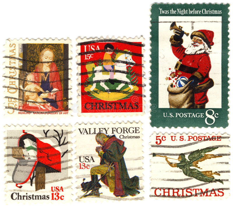Rare Classical Collectible Stamps USA Royalty Free Stock Photo