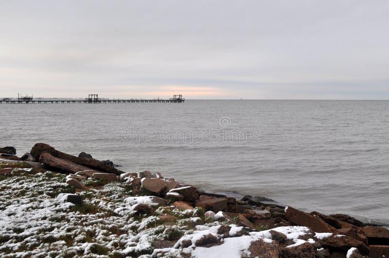 Rare Coastal Snow royalty free stock images