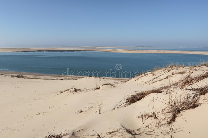 Rare dimensions, the Pilat Dune is also famous for the beauty and diversity of its natural environment. A rare dimensions, the Pilat Dune is also famous for the stock photo