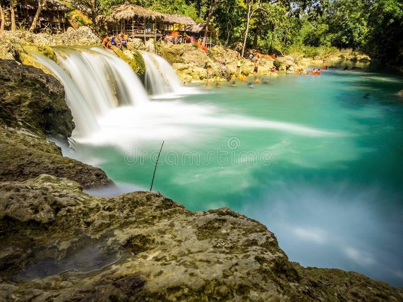 Rare Falls in Philippines. This Rare Falls in Philippines is Found at Pangasinan Bolinao, Beautiful and Clean every Tourist Love this Falls stock photo