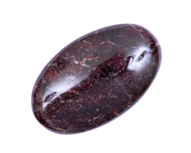 Rare high quality eudialyte mineral palm stone from Russia royalty free stock photos