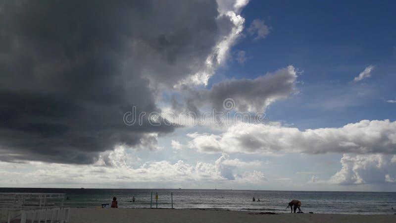 Rare miami sky. Clouds miami beach southbeach miamibeach people royalty free stock photos