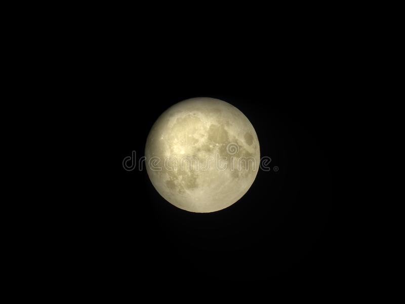 Rare micromoon. Harvest full moon. Friday 13th Moon. Friday 13 September 2019. stock image