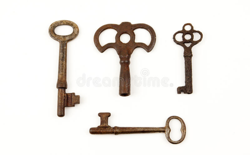 Download Rare Old Keys stock photo. Image of antique, metal, white - 24189136
