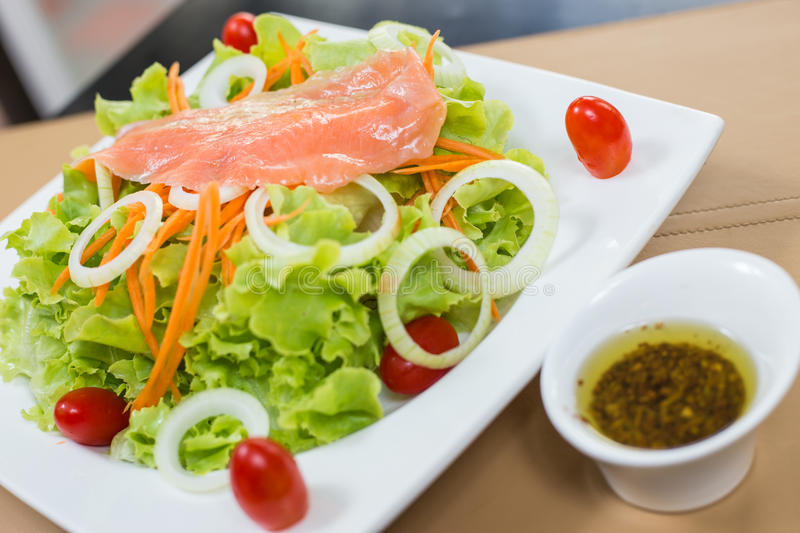 Download Rare salmon salad stock image. Image of sandwich, breakfast - 39050759