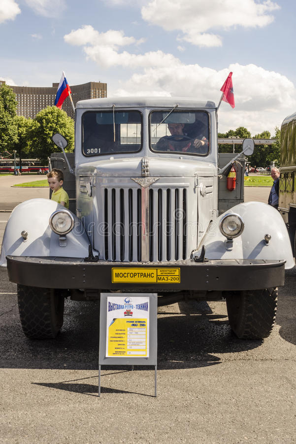 Download Rare Soviet Russian Cargo Truck Brand GAZ Editorial Image - Image of vintage, retro: 36082380